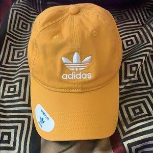Yellow adidas baseball cap